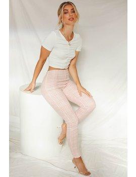 Downtown Manhattan Check Pants // Blush by Vergegirl