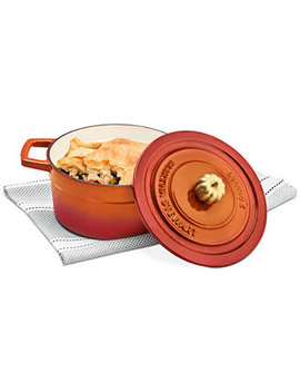2 Qt. Enameled Cast Iron Dutch Oven With Pumpkin Knob, Created For Macy's by General