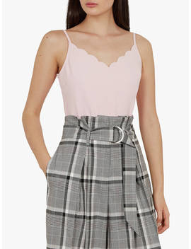 Ted Baker Siina Scallop Detail Top, Nude Pink by Ted Baker