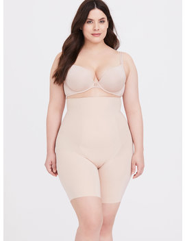 Spanx® Thinstincts Beige High Waisted Mid Thigh Short by Torrid