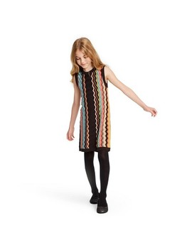 Girls' Colore Zig Zag Sleeveless Crewneck Sweater Dress   Missoni For Target by Missoni For Target
