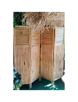 72 In. W X 72 In. H Bamboo 4 Panel Screen by Mgp