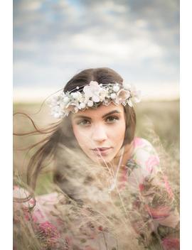 Romantic Wreath Winter Hair Wreath Bridal Hair Crown Flower Hair Wreath Boho Hair Crown Winter Collection Wedding Hair Accessories by Etsy