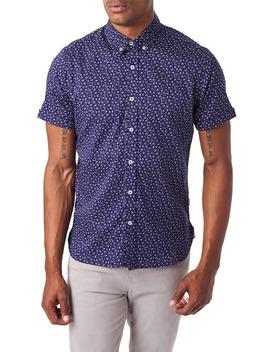 Spring Splendor Slim Fit Short Sleeve Button Down Sport Shirt by 7 Diamonds