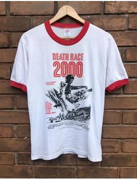 Vintage 90s Death Race 2000 1975s American Action Movie Ringer Style T Shirt By Mosquitohead / Sylvester Stallone / Russ Meyer Shirt Size M by Etsy
