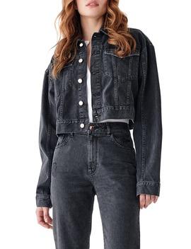 X Marianna Hewitt Annie Crop Denim Jacket by Dl1961