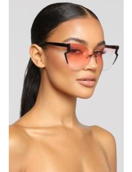 Little Bit Of Edge Sunglasses   Pink by Fashion Nova