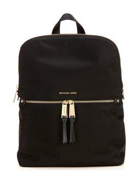 Polly Medium Nylon Slim Zip Backpack by Michael Michael Kors