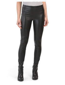 The Bergen Faux Leather Leggings by Tj Maxx