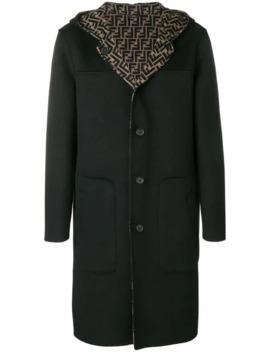 Hooded Midi Coat by Fendi