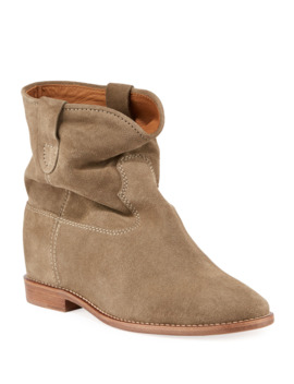 Crisi Western Suede Flat Booties by Isabel Marant