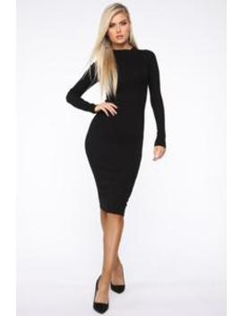 Grateful Grace Sweater Maxi Dress   Black by Fashion Nova