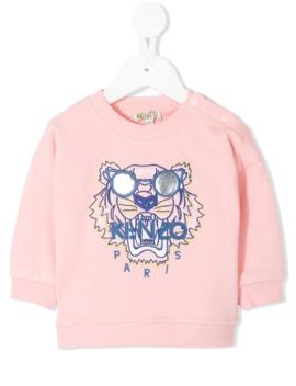 Tiger Embroidered Logo Sweatshirt by Kenzo Kids
