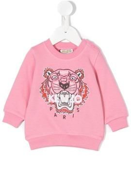 Tiger Embroidered Sweatshirt by Kenzo Kids