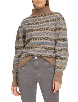 Ned Fair Isle Turtleneck Wool Sweater by Isabel Marant Étoile