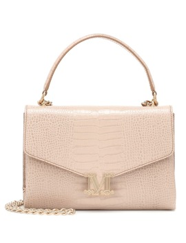 Linda Croc Effect Leather Shoulder Bag by Max Mara