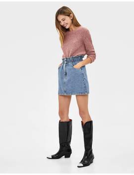 Denim Mini Skirt Skirts   Bershka United States by Bershka