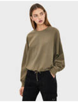 Sweatshirt With A Fitted Waist by Bershka