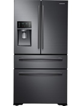 30 Cu. Ft. 4 Door French Door Refrigerator   Fingerprint Resistant Black Stainless Steel by Samsung