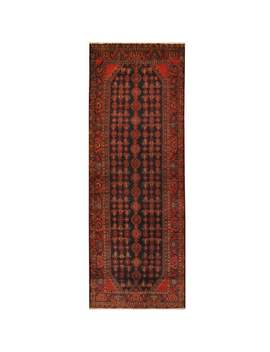 Handmade Herat Oriental Persian Hand Knotted Hamadan Wool Runner (3'8 X 10')   3'8 X 10' by Herat Oriental