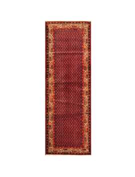 Herat Oriental Persian Hand Knotted Tribal Hamadan Wool Runner Rug   3'6 X 10' by Herat Oriental