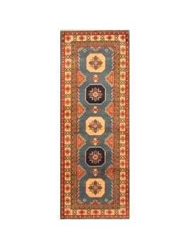 Handmade Herat Oriental Afghan Hand Knotted Tribal Kazak Wool Runner (2'10 X 8')   2'10 X 8' by Herat Oriental