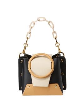 Yuzefi Delila Mini Colorblock Leather Ring Bucket Bag by Yuzefi