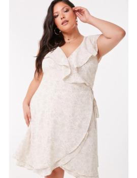 Plus Size Dot Print Wrap Dress by Forever 21