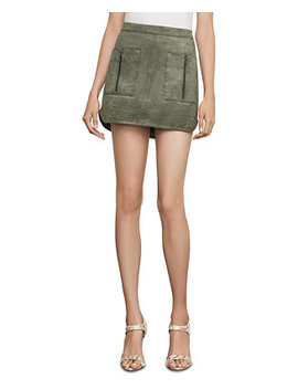 Faux Suede Mini Skirt by General