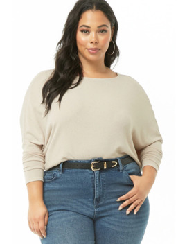 Plus Size Off The Shoulder Knit Top by Forever 21