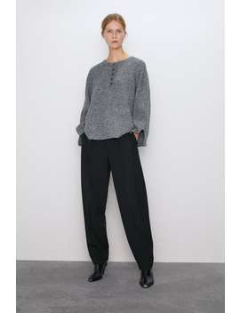 Knit Sweater With Buttons Sweaters Knitwear Woman by Zara