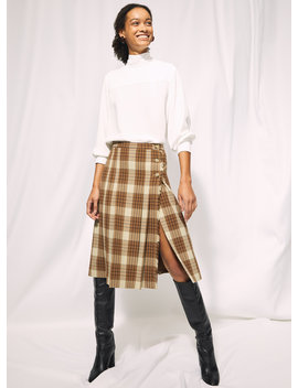 Trissy Check Skirt by Wilfred