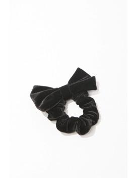 Velvet Bow Scrunchie by Forever 21