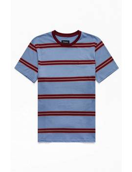 Brixton Blue Hilt Striped T Shirt by Pacsun