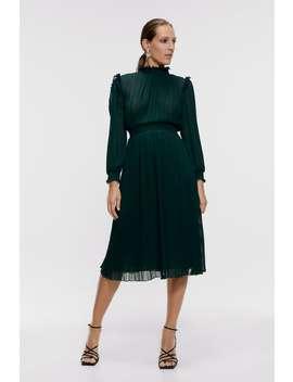 Pleated Midi Dress View All Dresses Woman by Zara