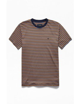 Brixton Hilt Mini Striped T Shirt by Pacsun