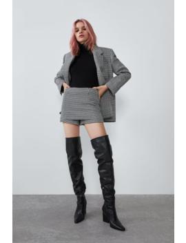 Houndstooth Skort Blazerswoman by Zara