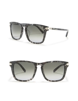 56mm Square Sunglasses by Salvatore Ferragamo