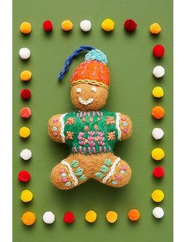Cozy Gingerbread Ornament by Anthropologie