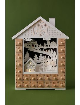 Snowy House Advent Calendar by Anthropologie