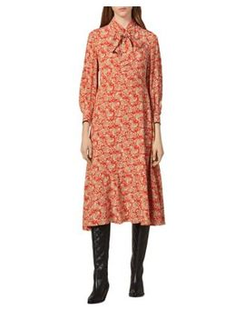 Lanelle Paisley Silk Midi Dress by Sandro