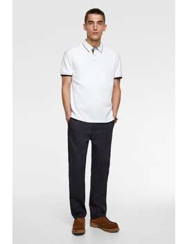 Polo Shirt With Piping View All Polos Man by Zara