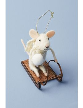 Sledding Mouse Ornament by Anthropologie