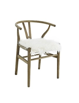 Ellis Wishbone Chair White   Linon by Linon