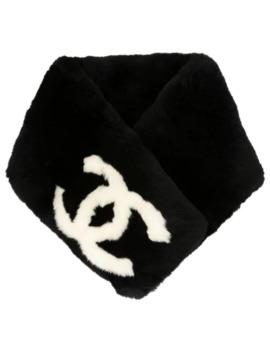 Cc Logos Fur Shawl Muffler Stole by Chanel Pre Owned