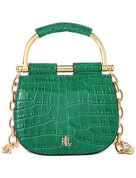 Mason Croc Embossed Leather Convertible Satchel by General