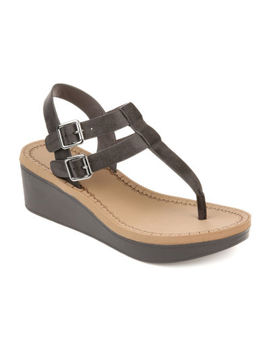 Journee Collection Womens Jc Bianca Wedge Sandals by Journee Collection