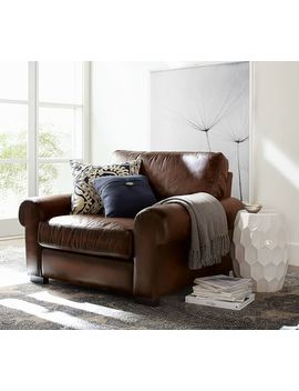 Turner Roll Arm Leather Armchair by Pottery Barn