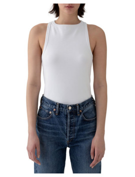 Agolde High Neck Rib Tank by Agolde