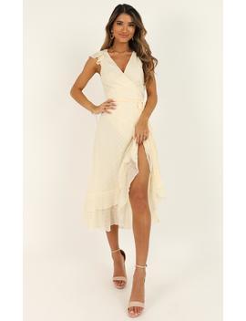 Let It Go Dress In Cream by Showpo Fashion